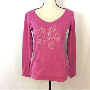 Life is Good Tops - Life Is Good Pink Snowflake Crewneck T-Shirt S