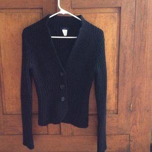 J. Crew black sweater cardigan