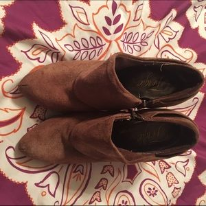 Fergie Shoes - Fergie leather booties size 7.5