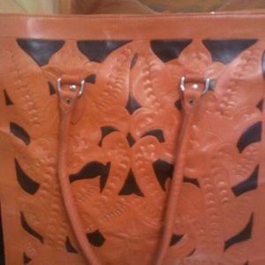 Handbags - Gorgeous Italian Orange Tote Bag