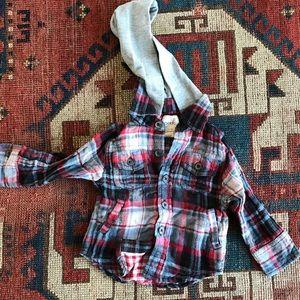 Peek Other - Peek Flannel Button Down Hoodie
