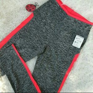 Pants - Heather coral yoga workout leggings