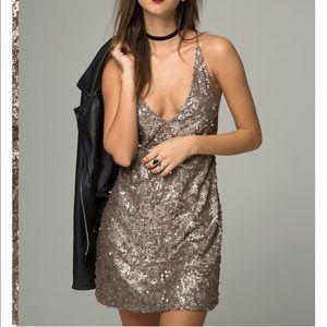 Motel Rocks Dresses & Skirts - Embellished sequin dress, gold