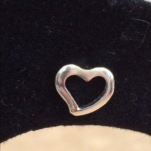 Jewelry - Sterling Silver 925 Heart Outline Stud Earrings