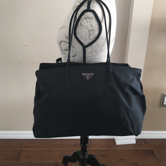 ef947f958b9f AUTHENTIC PRADA BLACK CANVAS TOTE BAG. M_588e111556b2d69ab6006c1d