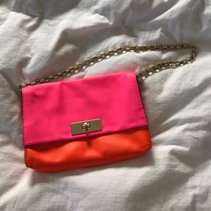 NWOT Kate Spade pink and orange shoulder bag