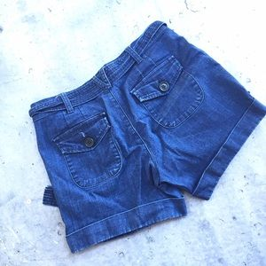 Forever 21 Shorts - Forever 21 Tie Waist Denim Cuffed Shorts