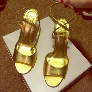 Gold Tory Burch Heels