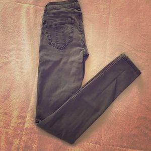 Vanilla star skinny jeans-olive sz 1