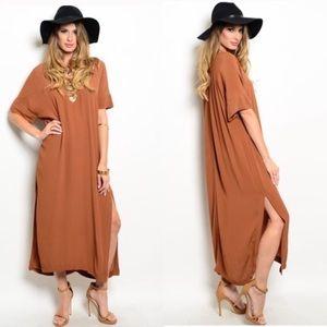 Dresses & Skirts - Boho Copper Dress
