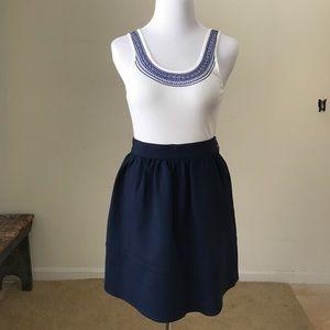 Madewell Dresses & Skirts - Madewell Navy Blue Scuba Mini Skirt