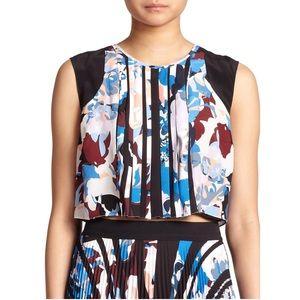 Elizabeth and James Tops - Pia Floral - Print Silk Top