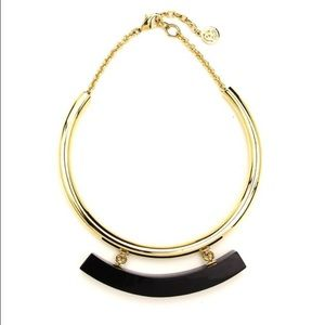 Ben-Amun Jewelry - Ben-Amun Gold Collar Necklace with Black Resin Bar