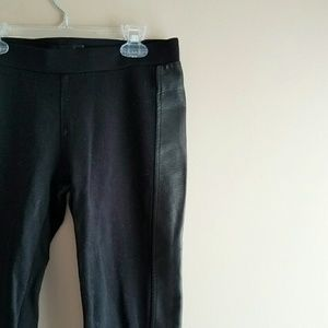 SOLD - Black Faux Leather Leggings - Sz M