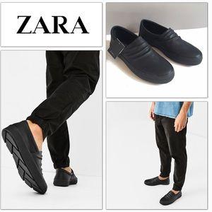 Zara Other - Zara Men NWT slip on Black sneakers loafers