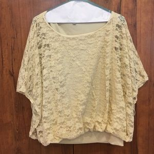 NY Collection Tops - Off white lace blouse size large