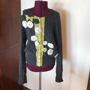 Anthropologie Sweaters - Field Flower Gray Cardigan Sweater M