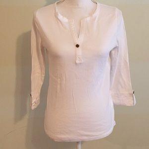 2 Jones NY 3/4 sleeve cotton t-shirts Size S. NWOT