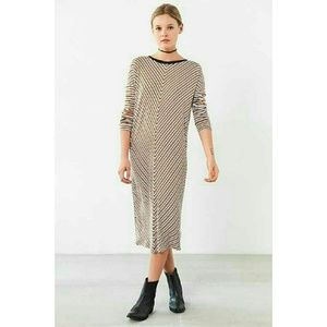 THE FIFTH LABEL Long Sleeve Stripe Midi Dress