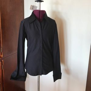 CAbi Tops - CAbi Black Zip Front Shirt S New NWT