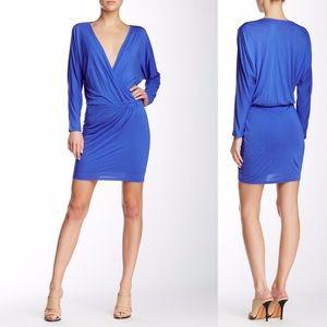 Haute Hippie Dresses & Skirts - Haute Hippie Cobalt Blue Wrap Dress