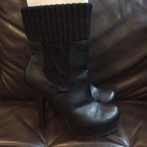 Jennifer Lopez Shoes - Jennifer Lopez Black Bette Sweater Ankle Bootie 8M