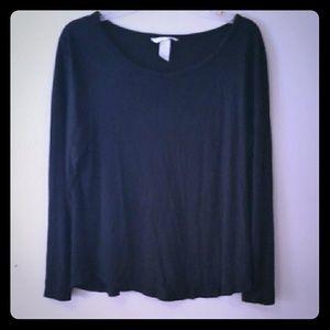 H&M Basic Black long sleeve tee