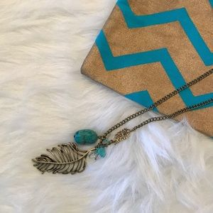 Jewelry - Long Layering Feather Necklace