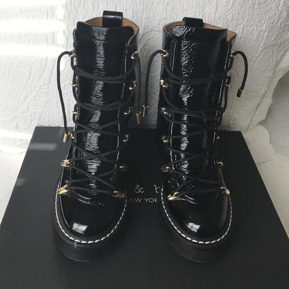 b8b711f05cb8 Rag and Bone Sanne Patent Platform Boot