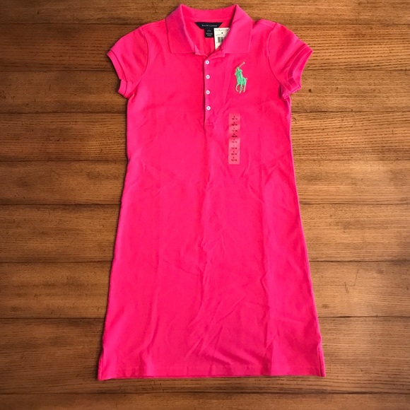 a0b9b79ad Ralph Lauren Dresses | Classic Pinkgreen Polo Dress Girls L | Poshmark