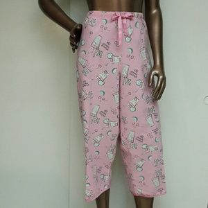 adonna Other - Whimsical Pink Lemonade Loungewear Capri's