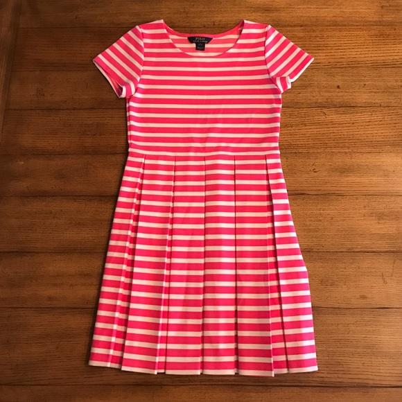 5ca8294b6 ... best price polo ralph lauren pleated dress girls l 12 14 2f699 de5d9
