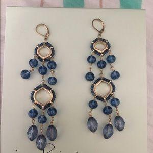 Stunning blue chandelier earrings