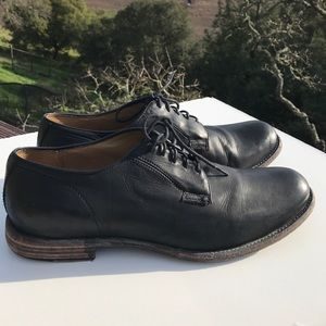 Frye Black Leather Lace Up Oxfords 13