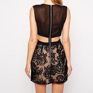 Stylestalker Dresses - Kiss Me Baby Lace Cutout Dress