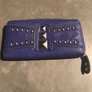 Handbags - Blue studded wallet