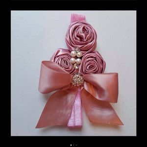 Other - Dusty Pink Rose Bow Headband