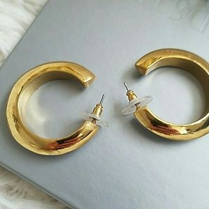 House of Harlow silver and gold hoop earrings