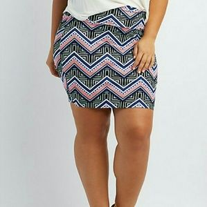 Dresses & Skirts - PLUS SIZE PRINTED MINI SKIRT