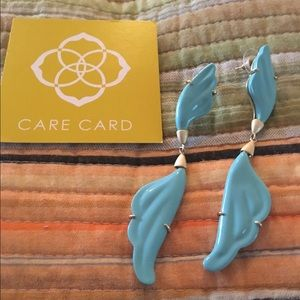Kendra Scott Jewelry - Kendra Scott turquoise angel wing earrings.
