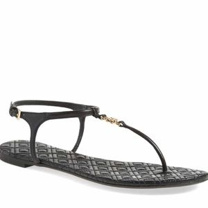 Tory Burch Shoes - Tory Burch Black Marion Sandals