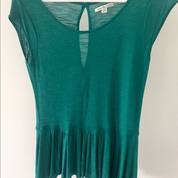 American Eagle Outfitters Tops - Barely worn AE teal top. Flowy and light
