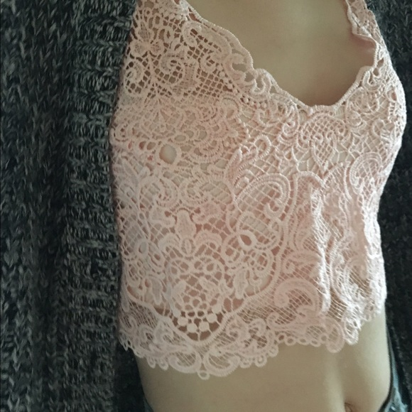 35a864ff35 NWT Pink crochet bralette top