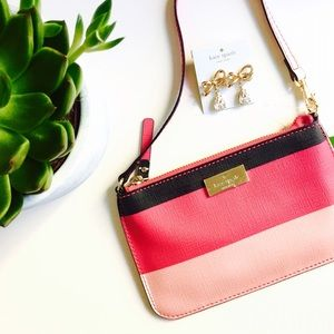 🌷LONG WEEKEND🌷New Kate Spade pink wristlet