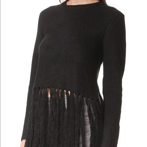 Moon River Fringe Knit Sweater