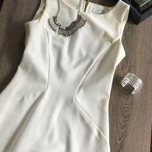 Closet Dresses & Skirts - Closet cream tulip bottom cocktail dress size 2