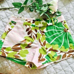 J. Crew Pants - J. CREW low fit cotton floral print shorts. size 4