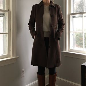 J Crew Double-Cloth Lady Day Coat
