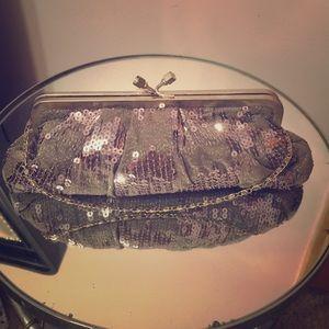 Handbags - Vintage-looking charcoal clutch