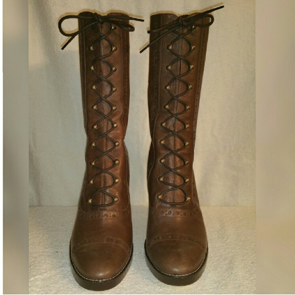 12d0a2f5ba01 Michael Kors lace-up Victorian style boots 10